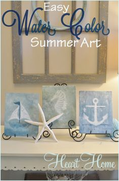 DIY Watercolor Summer Art - All Things Heart and Home
