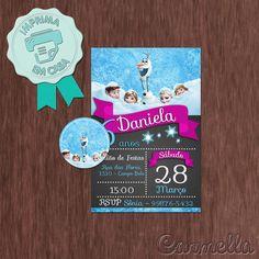 Convite Frozen 5 - P@H