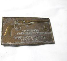 """1980 VINTAGE SOLID BRASS SHRINER 1 1//4/"""" DRESS BUCKLE"""