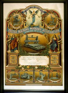 Modern Unions could learn a lot from the love, labour and pride that went into the designs of our banners and membership cards in the 1840's !