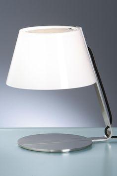 Lampe Taavo métal satiné et verre opale | Holtkötter | Made in Germany - Réf. 12050557