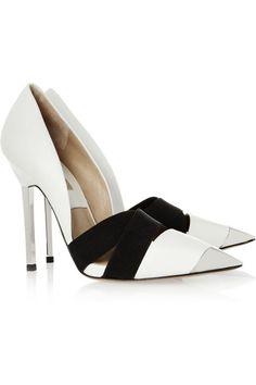 Michael Kors.  Ana leather and metal heels.