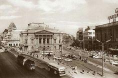 Blaha Lujza tér a Nemzeti Színházzal, 1960 körül