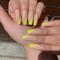 Summer Acrylic Nails Coffin Discover Slime Nudes Acrylic Press On Nails Bright Summer Acrylic Nails, Best Acrylic Nails, Acrylic Gel, Summer Nails, Nail Swag, Nagel Hacks, Gel Nails At Home, Aycrlic Nails, Neon Nails