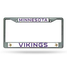 New! Minnesota Vikings Chrome License Plate Frame #MinnesotaVikings