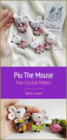 Photos © laydiy Fantastic and cute mouse for crocheting! This is the whole family of small mice. It is a very pleasant and joyful pattern that should go to your collection. Crochet Mouse, Free Crochet, Crochet Hats, Crochet Pattern Central, Free Pattern, Cute Mouse, Crochet Patterns Amigurumi, Crotchet, Mice