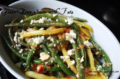 A delicious way to serve green beans! (And who says vegetables can't be amazing?)