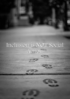 Inclusion is NOT Social Action