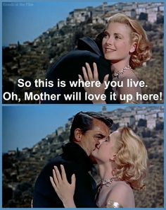 To Catch a Thief: Cary Grant and Grace Kelly- his face when she says this! Alfred Hitchcock, Hitchcock Film, Classic Movie Quotes, Classic Movies, Old Hollywood Movies, Classic Hollywood, Grace Kelly Quotes, To Catch A Thief, Cary Grant