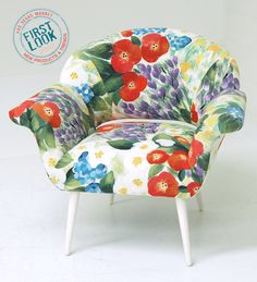 Thank heaven for cheerful chairs! Gigi is from Liora Manné. Spot more LOVE this chair! new patterns (area rugs, wall decor & pillows) at Las Vegas Market, July 30-Aug. 3.