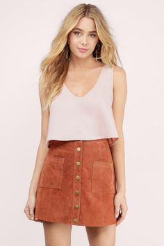 New Arrivals, Tobi, Blush Float On Scooped Tank Top