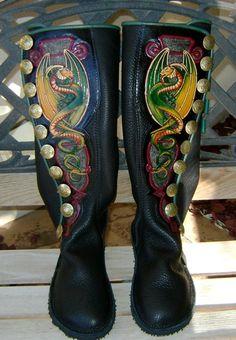 Beautiful custom boots from Catskill Mountain Moccasins.