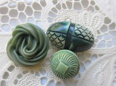 Vintage Buttons  Cottage chic 1940's 3 by pillowtalkswf on Etsy, $7.95