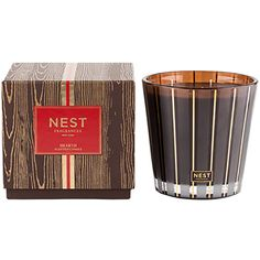 In time for winter...and gift giving! Use code CareForCause for $40 off your first purchase, no minimum. Shop Nest Fragrances HEARTH THREE WICK CANDLE