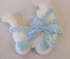 Baby Boy Carriage Applique Cards Crafts Scrapbooking   Artsy_Effects - Craft Supplies on ArtFire
