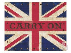 Carry on Union Jack Giclee Print by Sam Appleman at Art.com