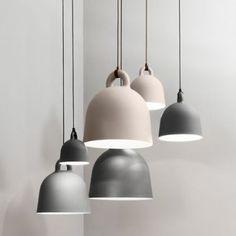 Normann Copenhagen Contemporary Bell Pendant Light with Fabric Cord