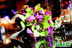 Orchid bouquet. Con portarramos Soft Touch de Espuma Floral FLORICEL.-- Floral foam #wedding and more