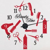 Beauty Time Vinyl Wall Clock for the salon