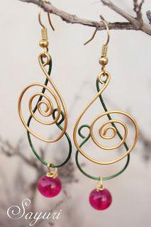 Jewels of Sayuri: Alambre - part 3 Wire earrings