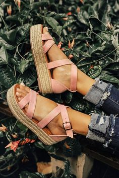 The Eliza Espadrille in Pink • Impressions Online Boutique