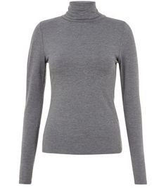 """Bring this roll neck long sleeve top into an autumn wardrobe - ideal tucked into an black a-line skirt and paired with over the knee boots to finish.- Roll neck- Simple long sleeves- Slim fit- Stretch fabric- Model is 5'8""""/176cm and wears UK 10/EU 38/US 6"""