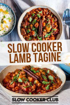 Moroccan Lamb Slow Cooker, Lamb Tagine Slow Cooker, Lamb Tagine Recipe, Slow Cooker Chicken Curry, Lamb Stew, Slow Cooker Recipes, Meat Recipes, Crockpot Recipes, Cooking Recipes