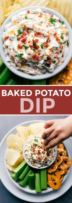 Dip Recipes, Appetizer Recipes, Appetizers, Cooking Recipes, Baked Potato Dip, Loaded Baked Potatoes, Chelsea's Messy Apron, Fun Dip, Creative Snacks