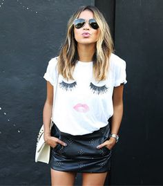 American Apparel 2017 Casual O-neck Sex Lip Eyelash Print T Shirt Women Tops Camisetas Muje T-shirt Short Sleeve Loose Top Fashion, Womens Fashion, Fashion Tips, Fashion Design, Ladies Fashion, Fashion Brand, Style Fashion, Korean Fashion, Fashion Graphic