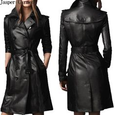 Cheap leather western coats, Buy Quality coat xxl directly from China leather keyring Suppliers: free shipping women double breasted quality black color pu leather slim fitness leather trench coat 155