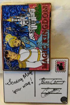 Disney WDW Cinderella & Prince Postcard Passholder 2015 LE 2500 Pin New $34.99