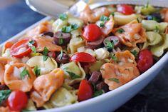 Tortellini Salad with Toasted Garlic Vinaigrette
