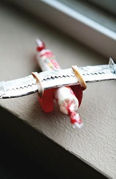candy airplane favors...perfect for a boy birthday...