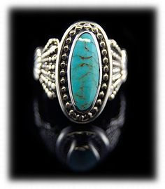 turqoise rings For Women | Turquoise Mountain Turquoise Ring for Women