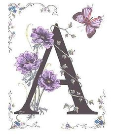 Art by Costance (Stanza) Widen From The Butterfly and Flowers Alphabet Series 'Morning Glory and Monarch Butterfly' Alphabet Art, Alphabet And Numbers, Letter Art, Creative Lettering, Lettering Design, Hand Lettering, Decoupage, Illuminated Letters, Graphic 45