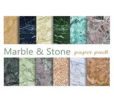 MARBLE & STONE Printable Digital Paper Download by DigitalAlice