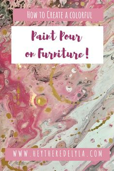 Watch me attempt acrylic paint pouring on a piece of furniture for the very firs Blush and Gold Pour Painting, Painting On Wood, Painting Tips, Spray Painting, Acrylic Paint On Wood, Acrylic Pouring Art, Paint Furniture, Furniture Makeover, Lucite Furniture