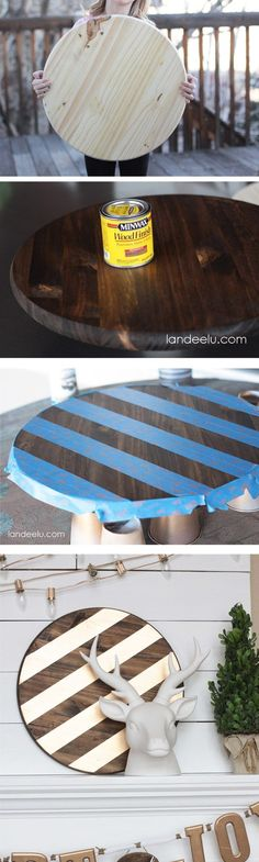 An easy and inexpensive way to add some gold to your decor!   landeelu.com #DIYHomeDecorGold