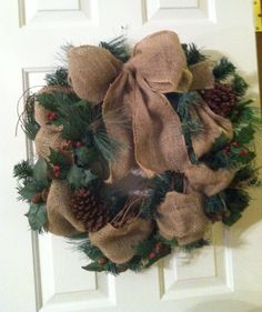 Christmas wreath - I like this one but it needs a little bit more red for my taste.