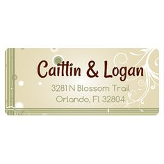 """Address Label  ID: ALA-004   Label Size: 2w"""" x 7/8h   Starting at $0.30ea. Labels usually ship in 1-3 business days.  Rush shipping available. This label sells in quantities of 24."""