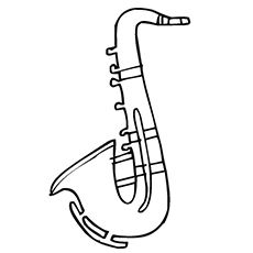Music Instrument Saxophone Coloring Pages
