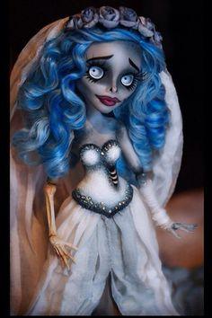 Monster High OOAK Corpse Bride Doll Custom Doll Ghoulia   eBay