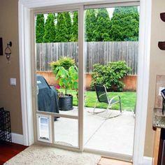 how to install a dog door in a glass door, read more http://theydesign.net/dog-door-for-sliding-glass-door/