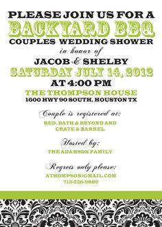BBQ Wedding Shower Invitation Couples by InvitingDesignStudio, $16.50