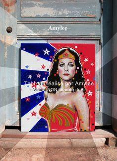 Painting by Amylee (Paris) www.amylee-paris.com #wonder #woman