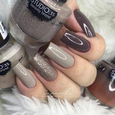 Elegant Nails, Stylish Nails, Trendy Nails, Neutral Nail Polish, Gel Nail Colors, Olive Nails, Beauty Hacks Nails, Lavender Nails, Acrylic Nail Tips