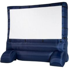 inflatable movie screen...if only i had a big backyard for movies outside