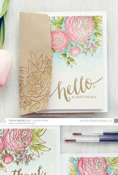 Watercolor Ranunculus Cards For Any Occasion with Yana