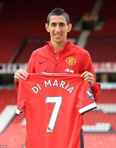 Iconic number: Angel Di Maria says Cristiano Ronaldo told him to wear the No 7 shirt at Ma...