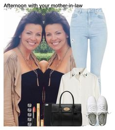 """""""Afternoon with your mother-in-law"""" by diirectiioner69 ❤ liked on Polyvore featuring Topshop, Chicnova Fashion, H&M, Mulberry, Yves Saint Laurent and NARS Cosmetics"""